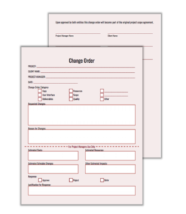 Digital Agency Project Management Change Order Form Template